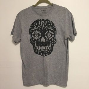 HUBRID Burn Out Graphic Skull size M